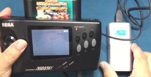 Nintendo Switch-like Sega Nomad portable console from 1995 modded for USB power