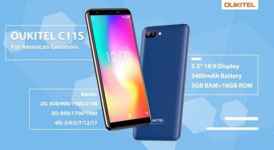 OUKITEL C11 Pro gets a new C11S version for American countries