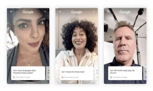 Google rolling out celebrity selfie videos for some search questions