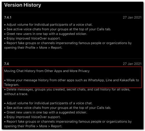 Telegram testing a new tool that lets you migrate chats from apps like WhatsApp