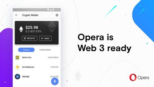 Opera builds cryptocurrency wallet into browser