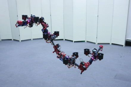 Watch this Japanese 'dragon' drone slither through the air like a flying snake