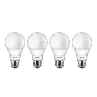 This $17 four-pack of Philips LED bulbs changes color using just the switch