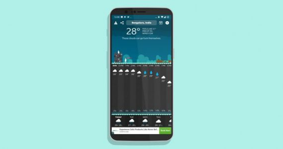 Carrot Weather's profanity-spewing forecast app arrives on Android