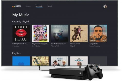 Deezer can provide the soundtrack for your Xbox One games