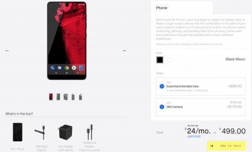 The Essential Phone is now permanently discounted to $499