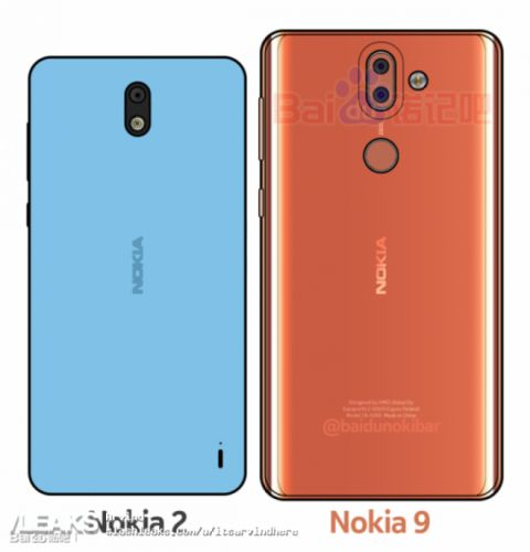 Nokia 2 and Nokia 9 Get Seriously Leaked in Fresh Render; Nokia 9 Has Curved Edges Back