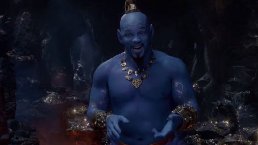 New Trailer For Disney's ALADDIN Shows Will Smith in all his Blue Genie Glory