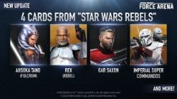 Today's Star Wars: Force Arena update introduces Clone Wars characters to the roster