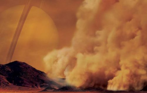 Saturn's moon Titan also has dust storms