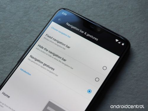 How to enable navigation gestures on the OnePlus 6