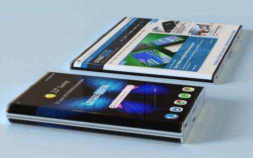 Samsung patents a foldable smartphone with curved edges
