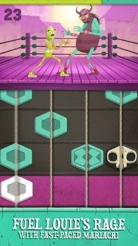 Tap to the rhythm and wrestle in colorful arcade game Louise Lucha