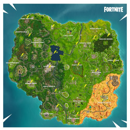Fortnite's Lightning Bolt Location Guide: Where To Search Floating Lightning Bolts