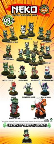 Zenit Miniatures Running Neko Fantasy Football Team Kickstarter