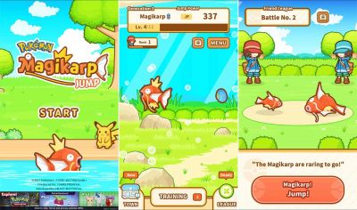Magikarp Jump is the newest mobile Pokémon Game, and it's available right now