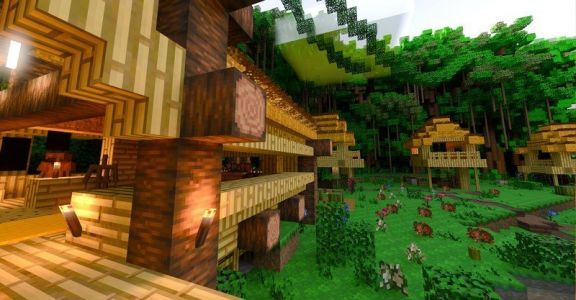 The Minecraft with RTX Build challenge is powered by NVIDIA RTX laptops