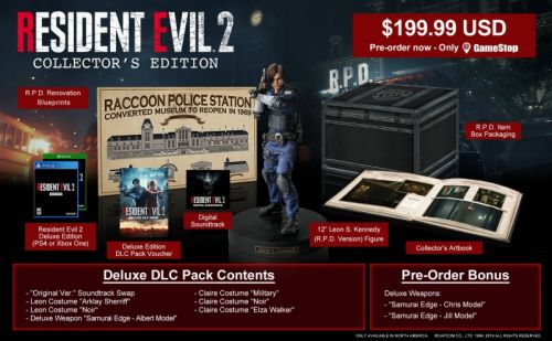 Resident Evil 2 Collector's Edition revealed, up for pre-order at GameStop