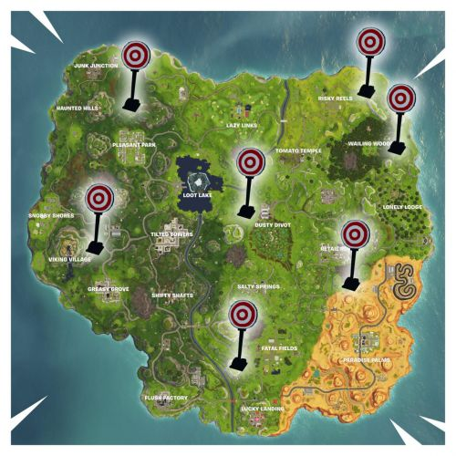 Fortnite Week 4 Challenge: Shooting Galleries Locations