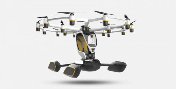 Hexa personal electric flying machine can cruise for 15-minutes per charge