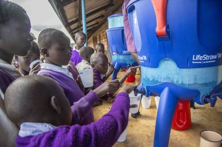 LifeStraw delivers clean drinking water to children in developing areas