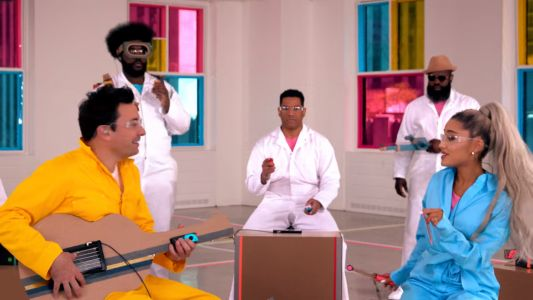 Ariana Grande, Jimmy Fallon, And The Roots Produced An All-Labo Musical Segment