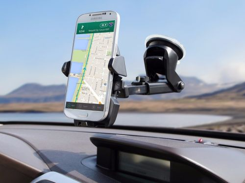 Adhere the iOttie One Touch 2 car mount to your dash or windshield for just $13