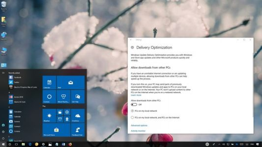 How to prevent the uploading of updates to other PCs on Windows 10