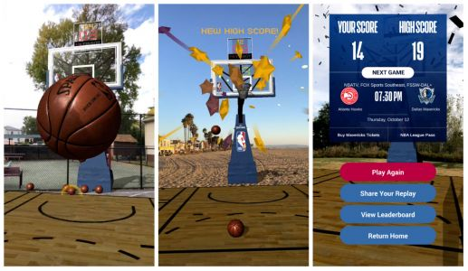 NBA's first AR game lets you pop-a-shot with your iPhone