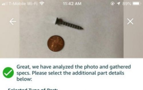Amazon Part Finder users AR to identify nuts, bolts, screws
