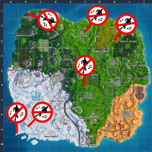 Fortnite: Where Are Forbidden Locations?