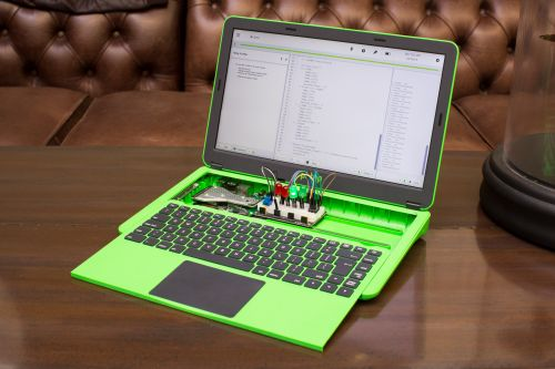 Raspberry Pi laptop teaches code with modular innards