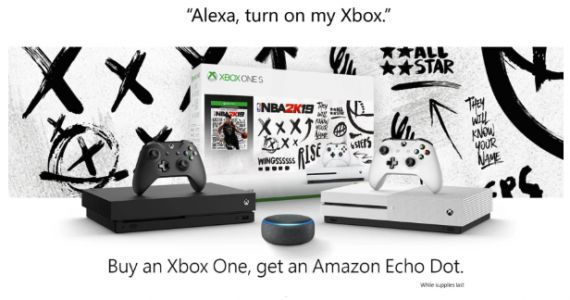 Free Echo Dot When You Buy An Xbox One At Amazon