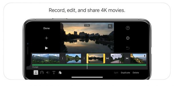 IMovie gets some attention with an iPhone X-ready update