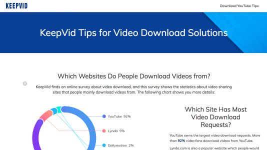 Popular YouTube downloading site KeepVid no longer lets you download videos