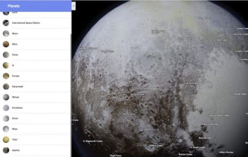 Google Maps now lets you navigate through our solar system