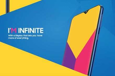 The Samsung Galaxy M series will be the first with an Infinity-V display