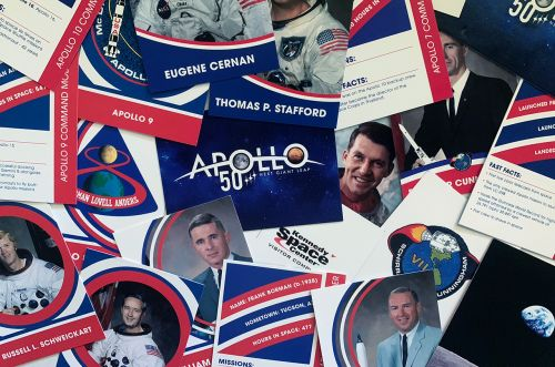Kennedy Space Center Marks Apollo 50th With Mission Trading Cards