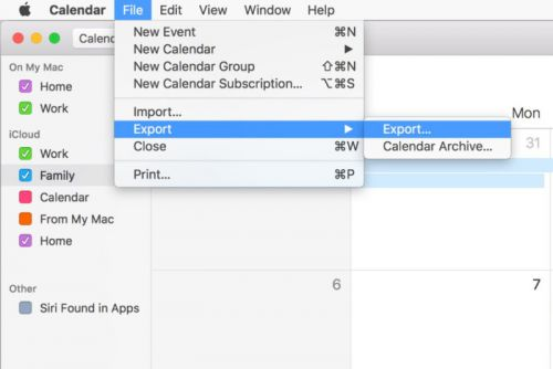 What you get when you export Calendar and Reminders in macOS, and how to use those files