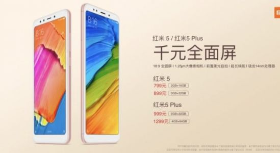 Xiaomi Redmi 5 and Redmi 5 Plus With Snapdragon 450/625 Launched