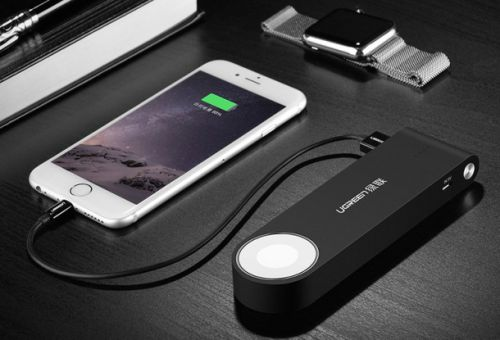 This portable charger for your iPhone is also a portable wireless charger for your Apple Watch