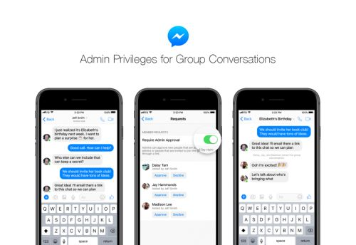 Facebook Messenger gets admin rights for group chats