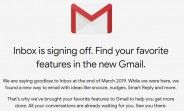 Google Inbox gets shutdown date