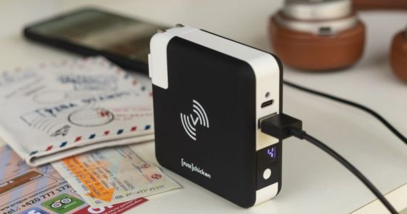 This $85 wireless charger doubles as a power bank, and it's perfect for all your travels
