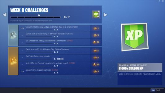 Fortnite Week 8 Challenge Guide: Dance With Fish Trophy, Shoot Clay Pigeons, Trick Points, And More