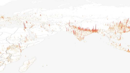 Stunning dataviz project maps the world's population