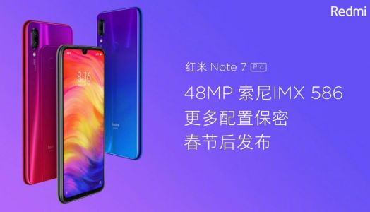 Redmi Note 7 Pro with 48MP Sony IMX586 sensor launching in China next week