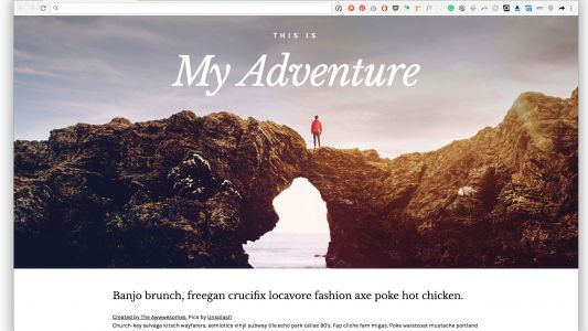 Create collage effects in the browser with CSS