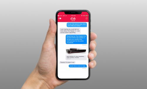 Dish customers can chat with service reps through iMessage