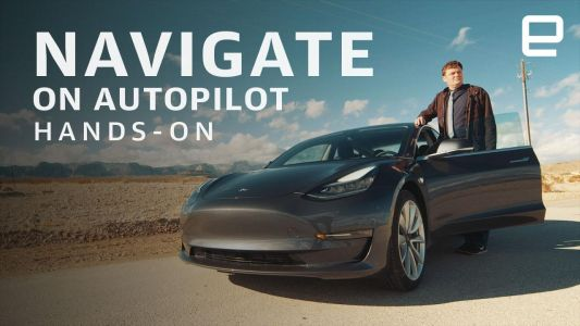 Tesla's Navigate on Autopilot was my CES road trip companion